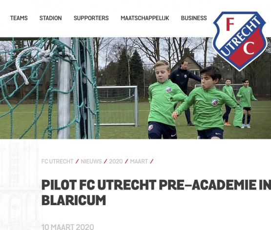 Ingezonden: Bastiaan geselecteerd voor de pre academie van FC Utrecht